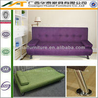 Cheap Fabric Sofa bed Living Room Furniture Purple Color SFB-111