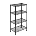 Metal shelf adjustable unit wire shelving Garage kitchen storage wire rack Black coating wire shelving