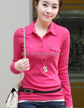 long sleeves of fashion polo for women