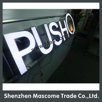 diy led backlit channel letter sign led letter sign 3d light box letter signage