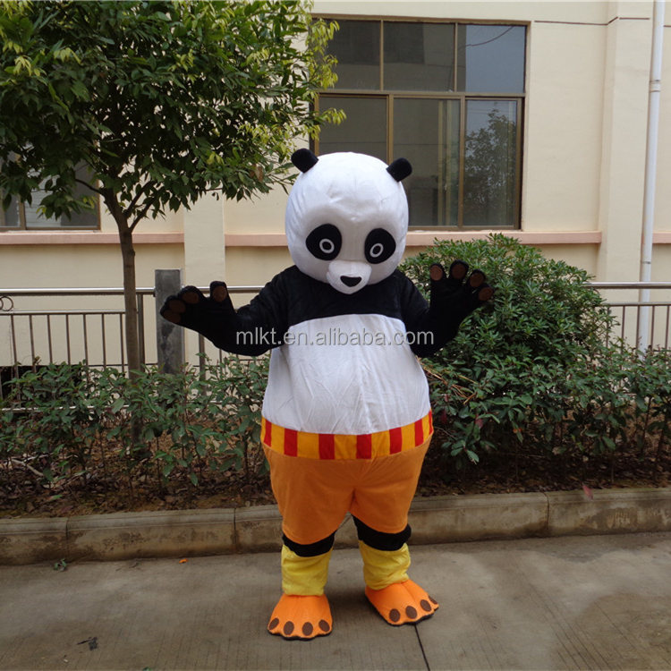 China OEM factory produced lovely kungfu panda mascot costume