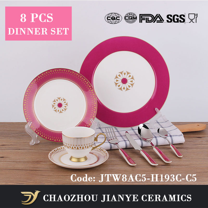 15 pcs JIANYE wholesale high-end fine bone china dinner set for wedding giftware