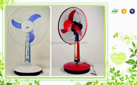 high performance 16'' AC/DC charging table fan with timer 12V 12W lowest price solar dc fan