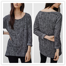 2015 Autumn Latest Fashion Loose T Shirt Women Cotton Blouse Designs for Office Lady Clothing NT6792