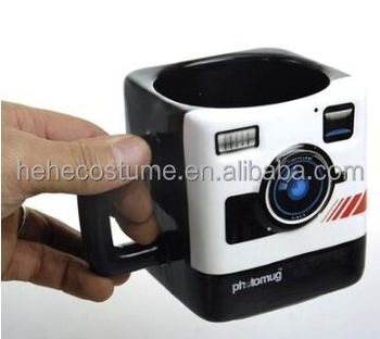 Retro Camera Photomug,Mustard Photo Mug