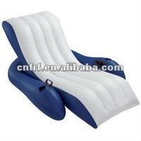Water Chair Lounger Pool Inflatable Lounge Float Recliner + 2 Cup Holders