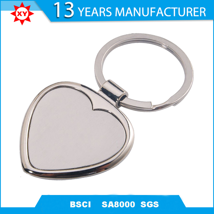 promotional Gifts Cheap Customized heart blank Keychain