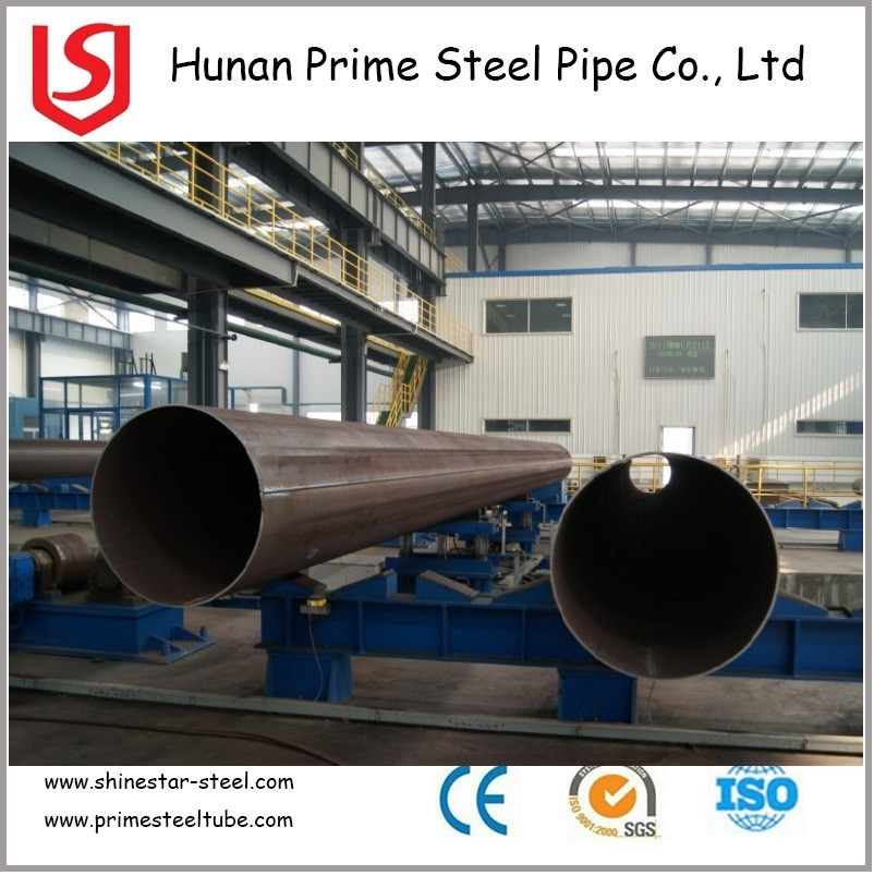LSAW welded black round steel pipe standard API 5L X70 , carbon steel pipe