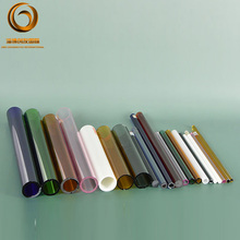 wholesales high quality heat-resistant colored pyrex glass tube