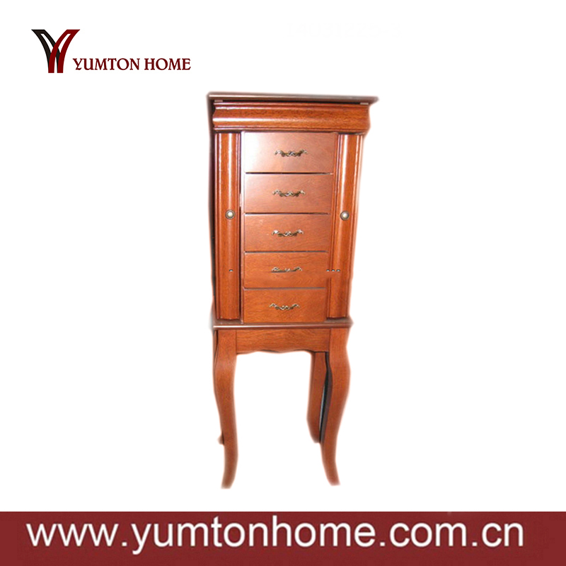 Dongguan solid wooden bedroom antique furniture about Jewellery Cabinet