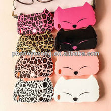 NEW Fashion Big Face Cat Plastic & Silicon Case for iPhone 5G