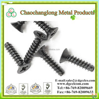 Phillips Flat Head Self-Tapping Screw Type F ST4.8 With Black Zinc Plating