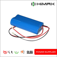 rechargeable lithium battery 7.4v 1200mah li-ion battery pack for lighting