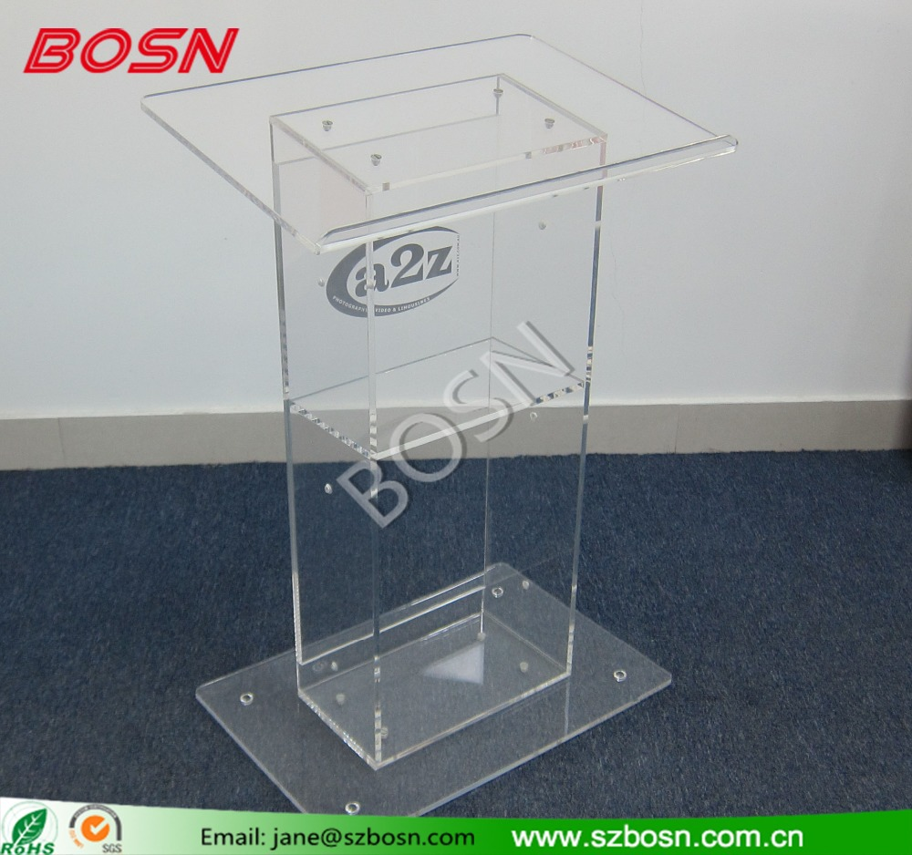 Elegant and Durable Customized Acrylic Lectern Wholesale
