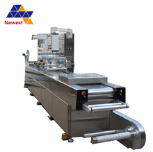 High quality automatic continuous vacuum packing machine for donkey meat/continuous stretch film vacuum sealer