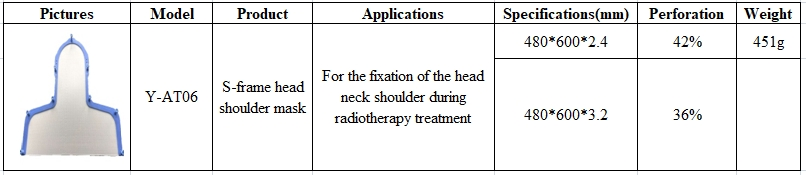 Radiotherapy Thermoplastic Maskf Head S Frame Thermoplastic Sheet With FDA CE ISO