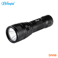 Magnetic 1*18650 battery IP 68 scuba diving powerful led flashlight
