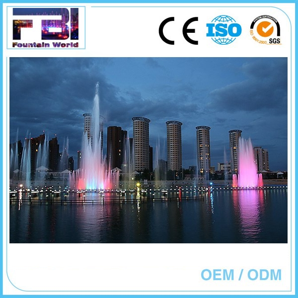 Laser Lighting Show outdoor floating solar pool fountain multimedia musical fountain