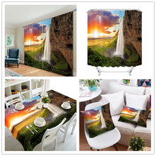 Fashion New Concept Smart Color Day and Night Design Table Cloth , Changing Fiber PVC Shower Window Curtain