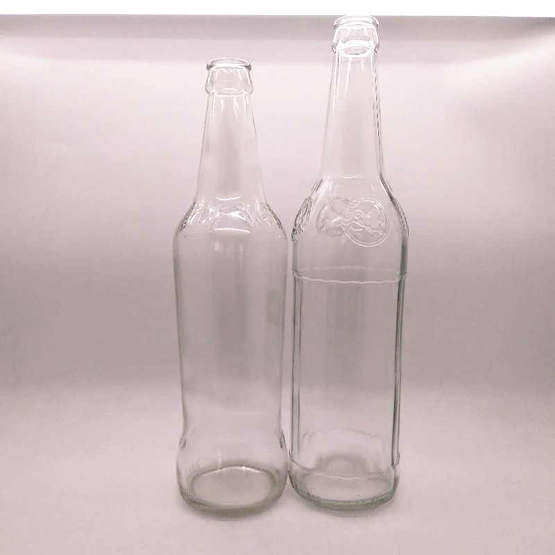 500ml Carbonated Beverage Beer,Soda water,Juice Use Food Grade Glass Empty Bottles with Crown Caps
