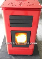 2015 year antique cast pellet stove for family use