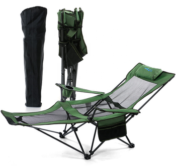 Camping Picnic Fishing Folding Portable Height Adjustable Fishing Chair Low Beach Chair for lying and sitting
