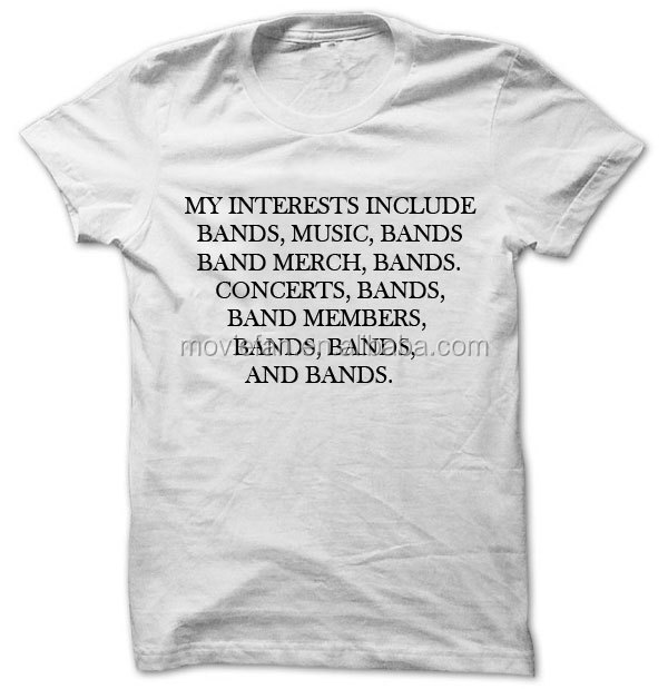My interests include bands... Unisex T Shirt
