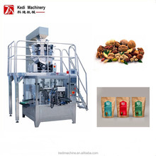 Automatic Dry Food Peanuts Premade Pouch Zipper Bag Packing Machine