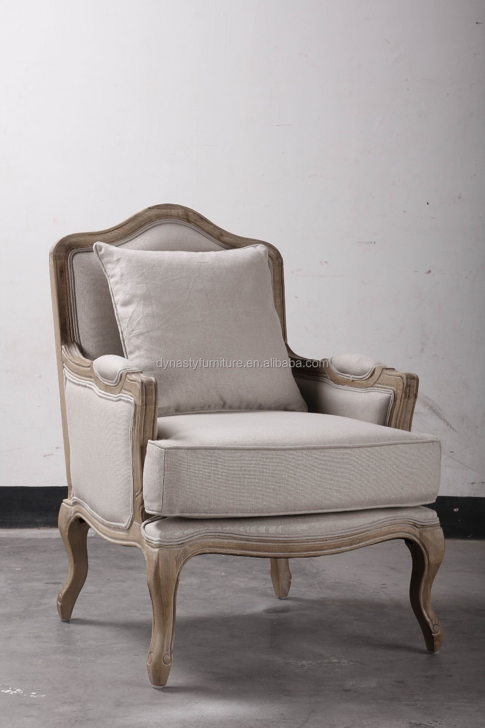 french style wooden furniture living room sofa chair set