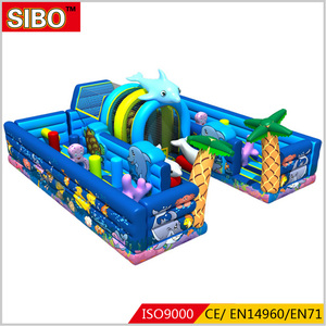 China golden supplier big bouncer obstacle inflatable combo bouncer