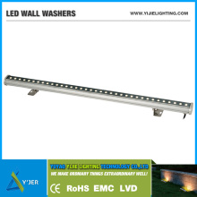 YJX-0001 IP65 waterproof outdoor 36W LED linear wall washer rgbw