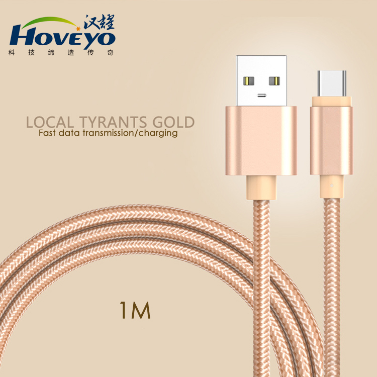 2017 Hot Sell High Warranty Nylon Braided usb type c <strong>cable</strong> Fast Charging for MacBook Nokia letv phone