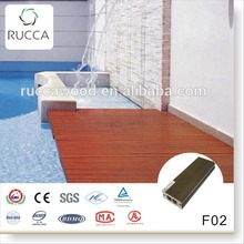 2016 WPC Wood pvc pool decking flooring 70*25mm exterior for home garden plastic balcony cover