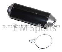 Dirt Pit bike Motorcycle oval exhaust silver/black