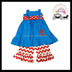 Tank top dress match chevron shorts outfits wholesale girls clothes children boutique clothes kids kurtis for girls