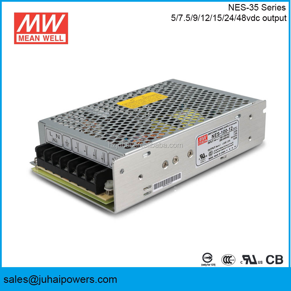 Meanwell NES-100-12 100W smps 5V 12v 24V dc ac 230v electrical equipment power supply