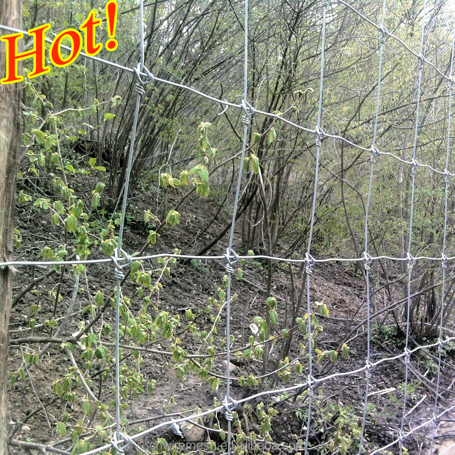 vertical wires 15cm 30cm field fence wooden flexible fence ISO9001 FACTORY