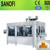 Automatic beverage filling production line for juice hot drinks