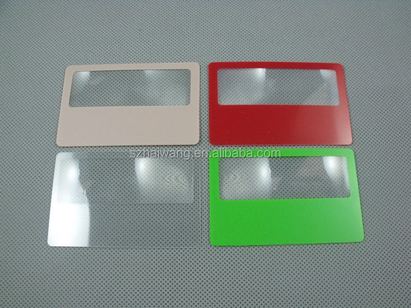 Cheap price HW802 85*55mm handheld plastic sheet magnifier
