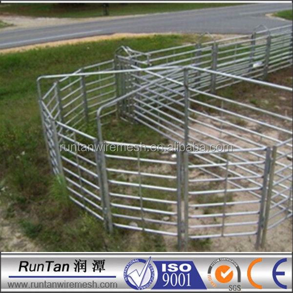 China high quality metal horse stall fence pen steel round yard panels