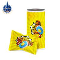 Custom printing high barrier aluminum foil seal food packaging plastic roll film for candy