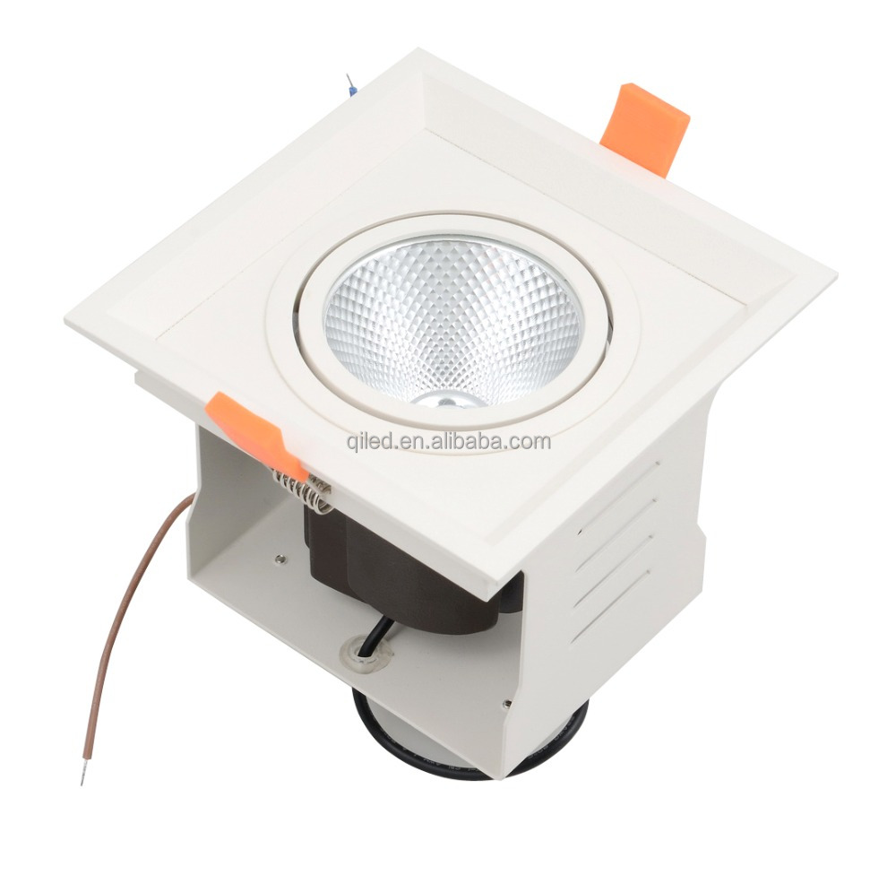 Single head SAA,RoHS,LVD,EMC,CCC Certification 6w grille down light LED Light Source Grille Spot Light 12w