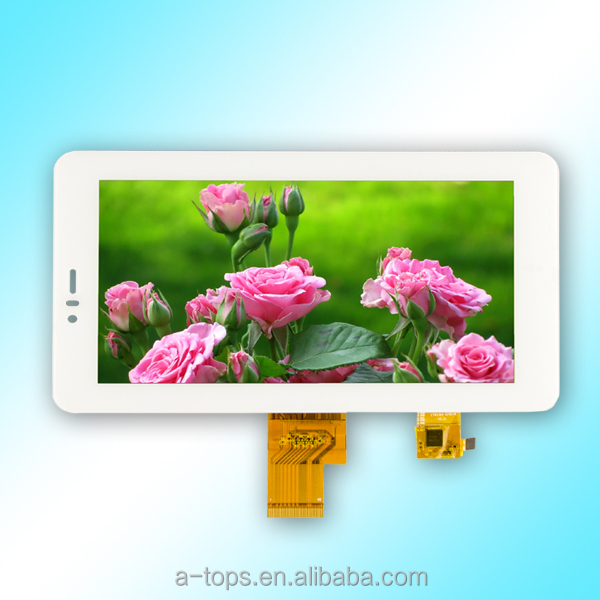 7.0 inch color tft capacitive touch screen with wide temperture(-30~80degree)