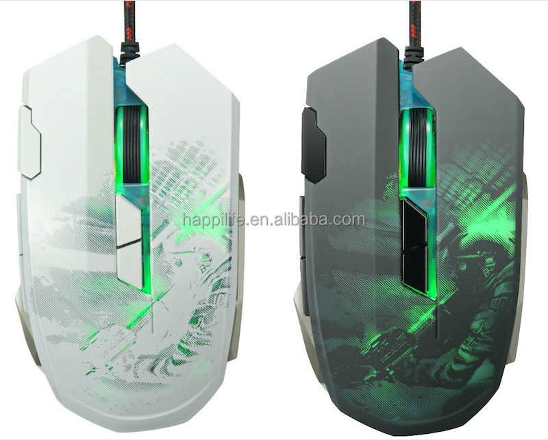 Professional 3200 DPI adjustable New model 8D Gaming Mouse, Optical USB wired Backlit mouse Gaming