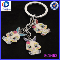 Best selling products 2014 birthday gifts lovely fancy rabbit keychain