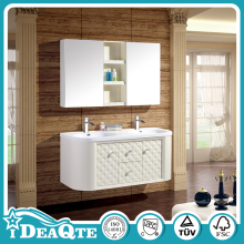 Wall Mounted PVC Bathroom Storage Cabinet White Color Convenient Shelf