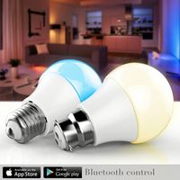 LED Light Bulb E27 Bluetooth Speaker 2 IN 1 Portable Wireless Music Smart Colorful RGB Bubble Ball Lamp With App Control