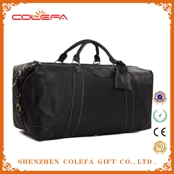 Best selling fashion leather travel bag, polo classic travel bag