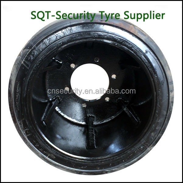 high elastic rubber tyre 560x356x398 Mould on solid tire