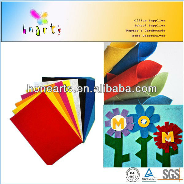 Good price and high quality kds crafting color felt wrapped in roll or flat